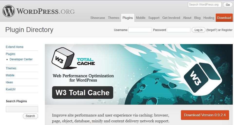 w3 total cache screenshot