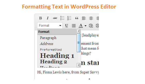 Formatting Headers In WordPress